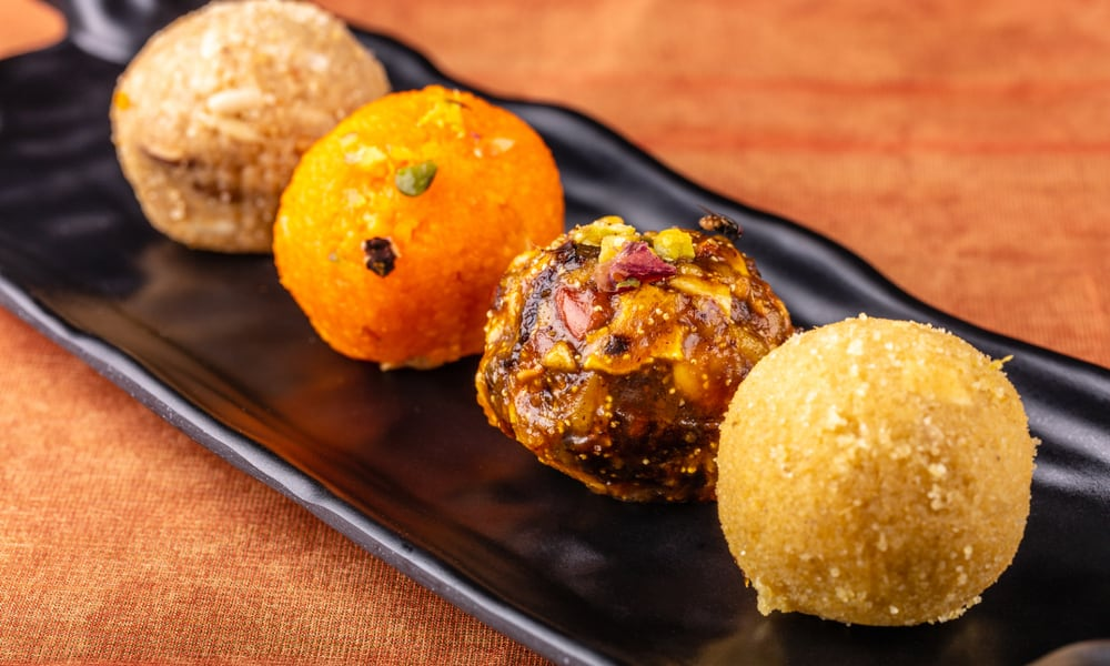Indian Street Food Moong Dal Ladoo