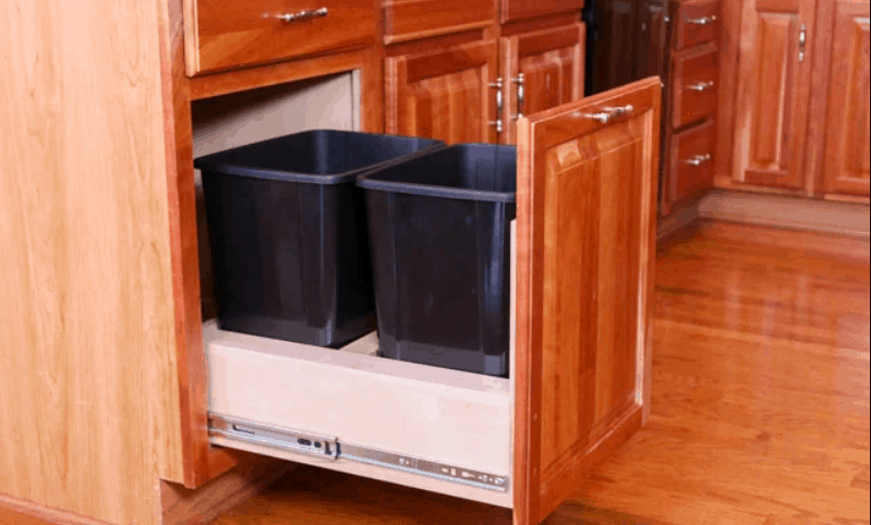 Instructables DIY Pull Out Trash Cabinet