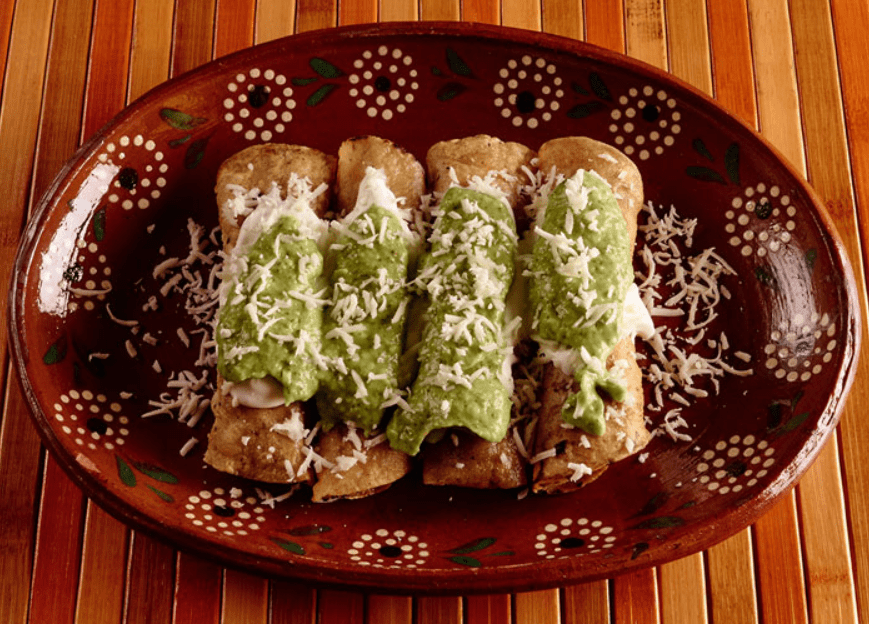 Mexican Street Food Taquitos and Flautas