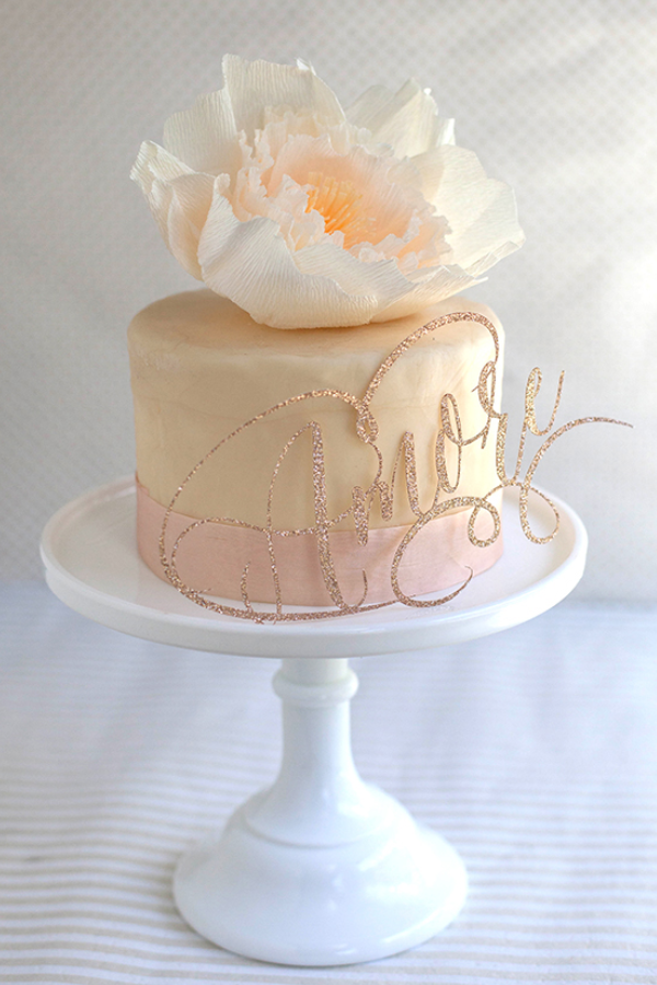 Sparkly DIY Cake Toppers for Weddings and Birthdays