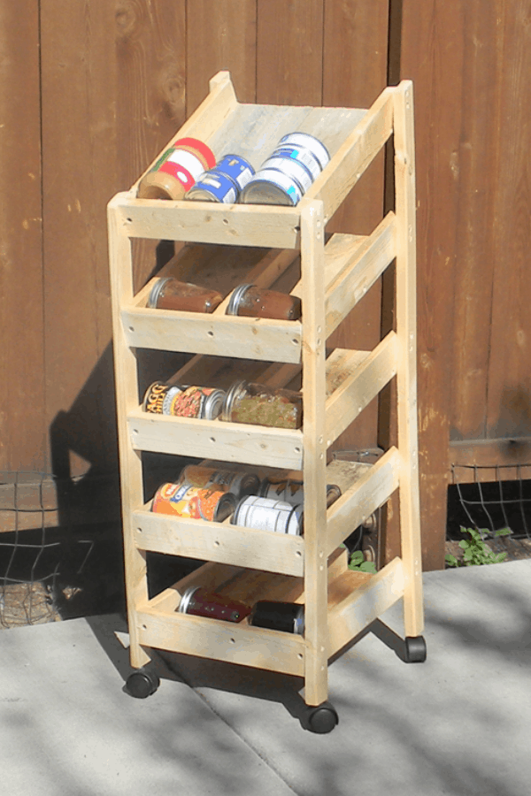 Standing Rotating Can Rack