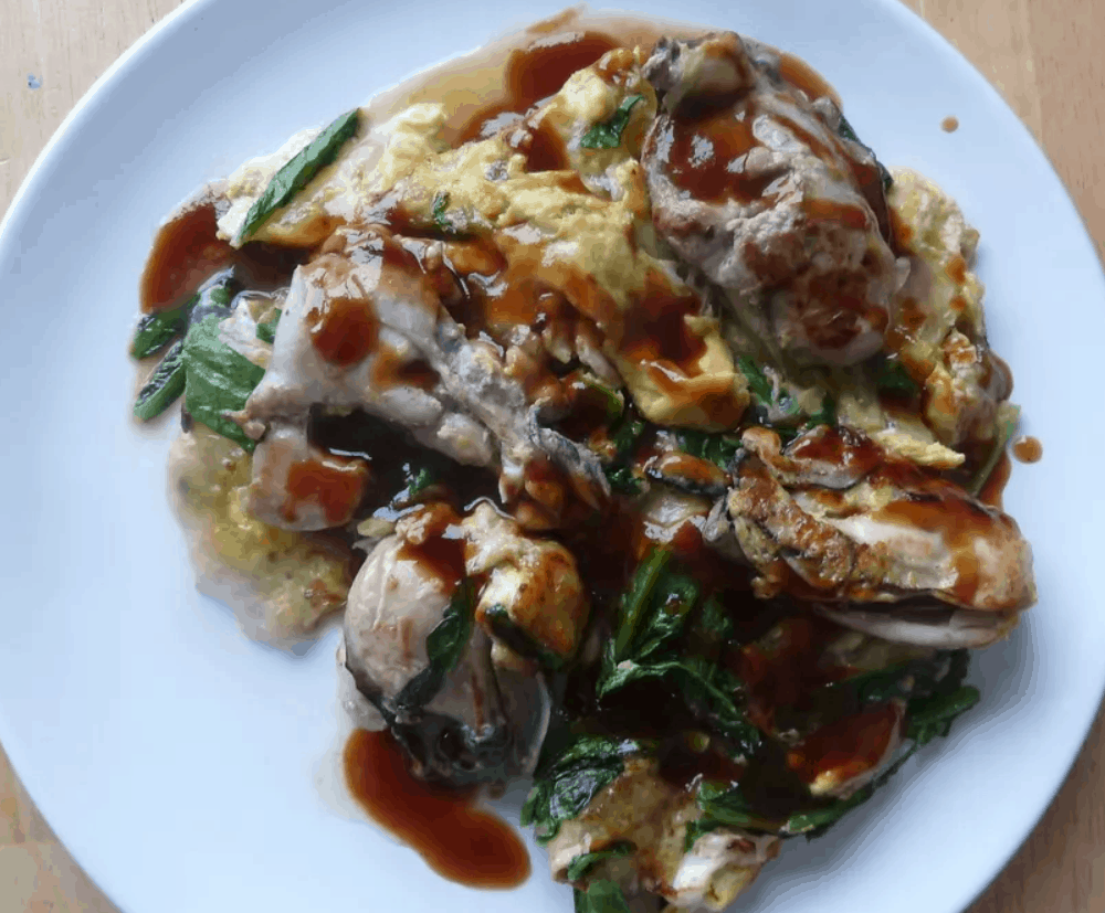 Taiwanese Street Food Oyster Omelet