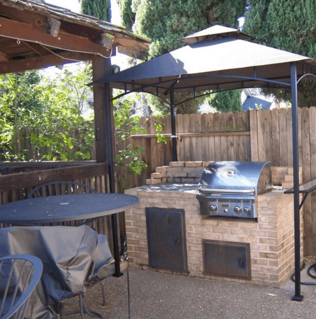 Build Your Own Backyard Grill and Gazebo