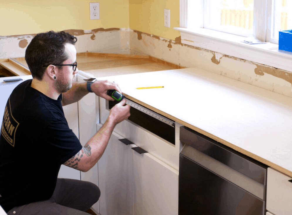 Building DIY Countertops from Plywood and Laminate for $300