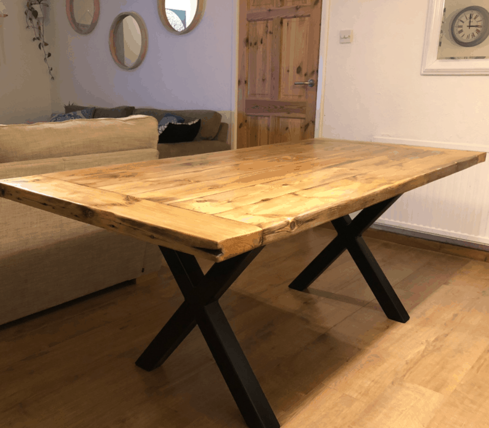 Building a Rustic Industrial Dining Table