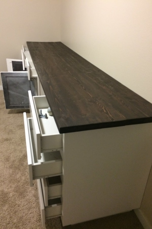 Built-Ins How to DIY a Wood Countertop