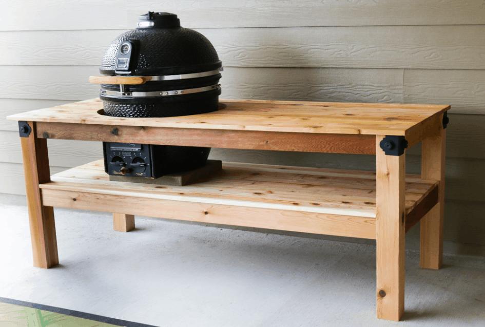 Cedar Kamado Grill Table