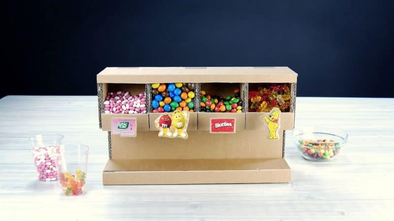 Craft Your Own DIY Candy Dispenser From Cardboard