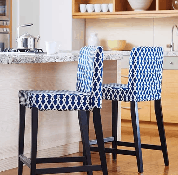 DIY Barstool Slipcovers