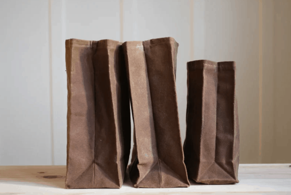 DIY Brown Bag (Waxed Canvas Lunch Bag)