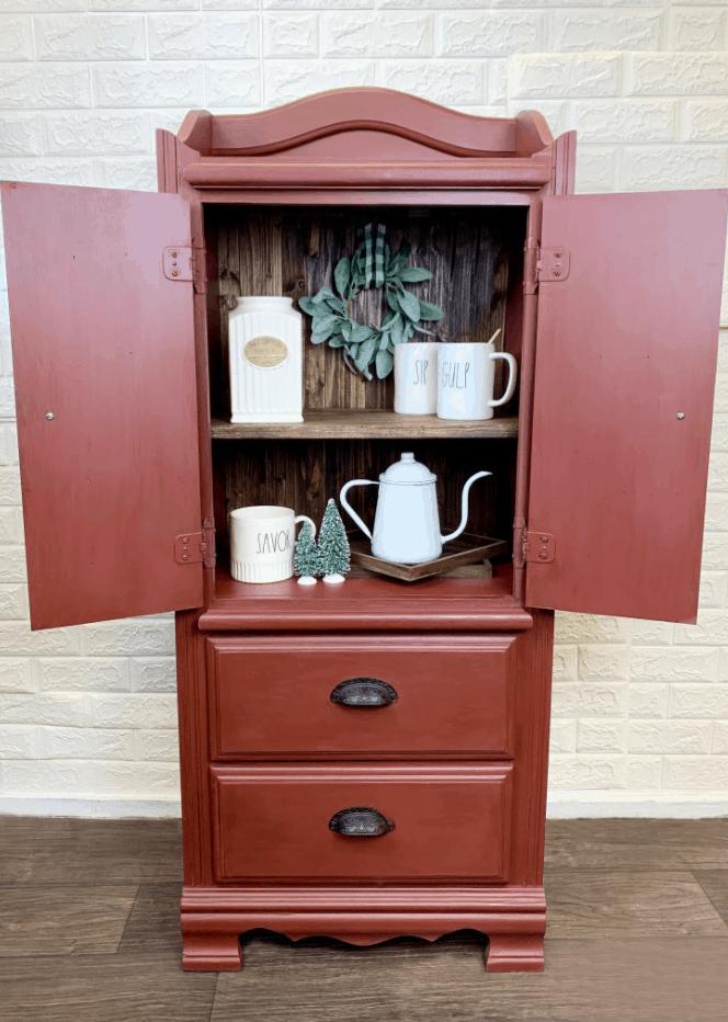 DIY Coffee Bar – Armoire Makeover