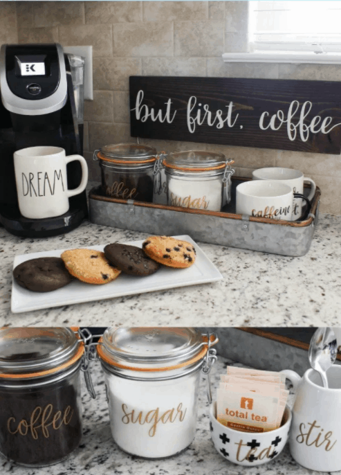 DIY Coffee Station from Mommy Suite