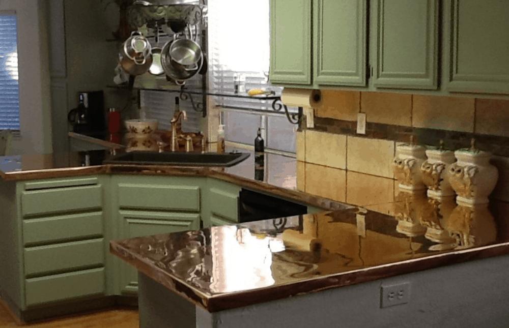 DIY Copper Countertop