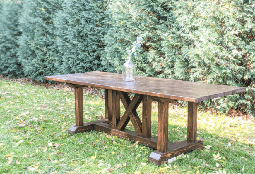 DIY Dining Table Inspired by Restoration Hardware
