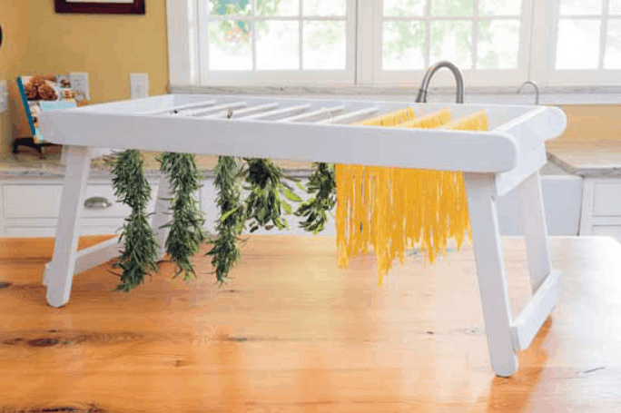 DIY Drying Rack for Pasta, Herbs and More