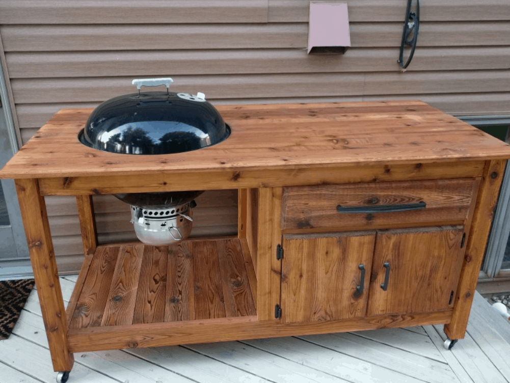 DIY Grill Cart for a Charcoal Kettle