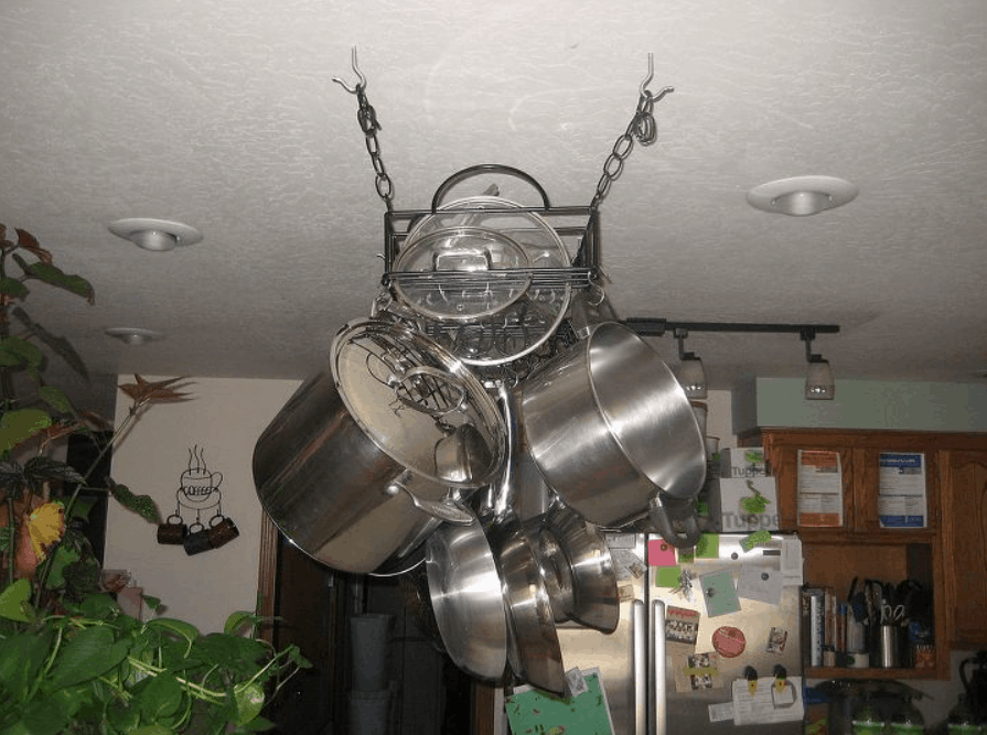 DIY Hanging Pot Pan Rack