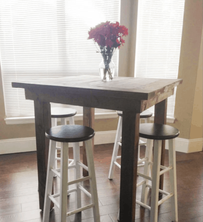 DIY High Top Pub Table