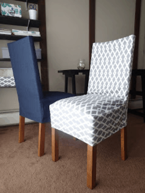 DIY How To Make a Chair Cover Slip Cover Tutorial