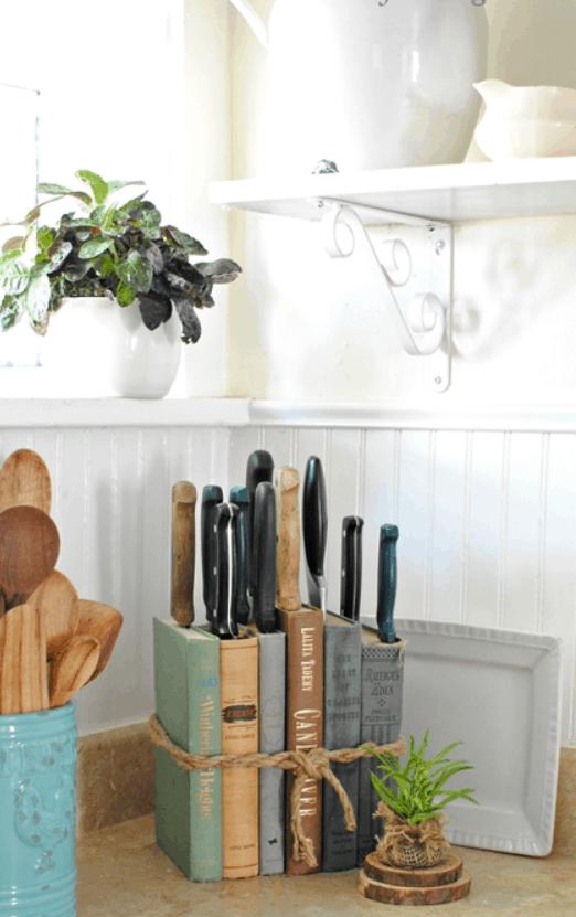 DIY Knife Holder Flea Market Inspired
