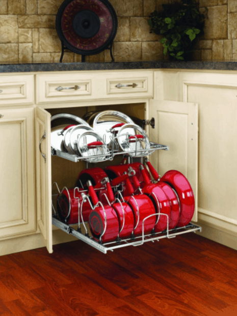 DIY Knock-Off Organization for Pots and Pans