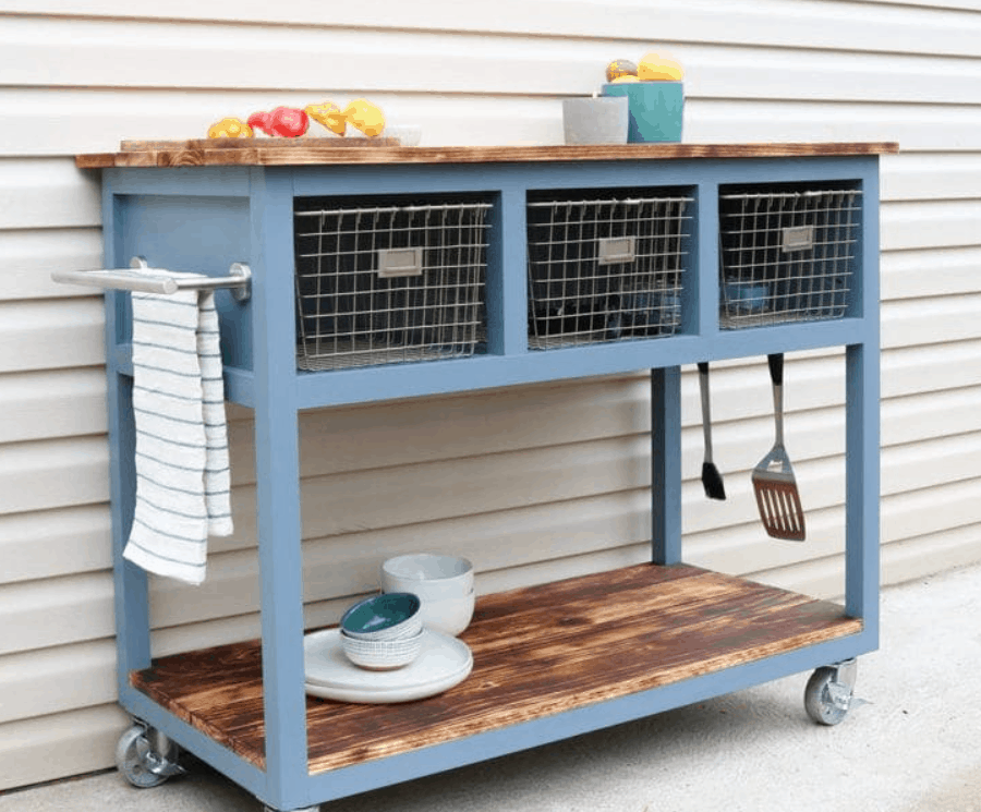 DIY Mobile IslandGrill Cart