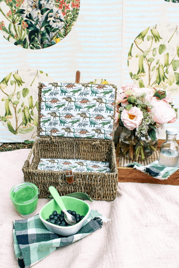 DIY Picnic Basket from At Home With Ashley