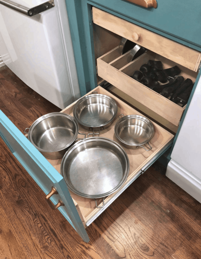 DIY Pull-Out Shelves for Pots and Pans Organization