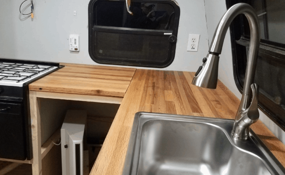 DIY Reclaimed Butcher Block Countertop