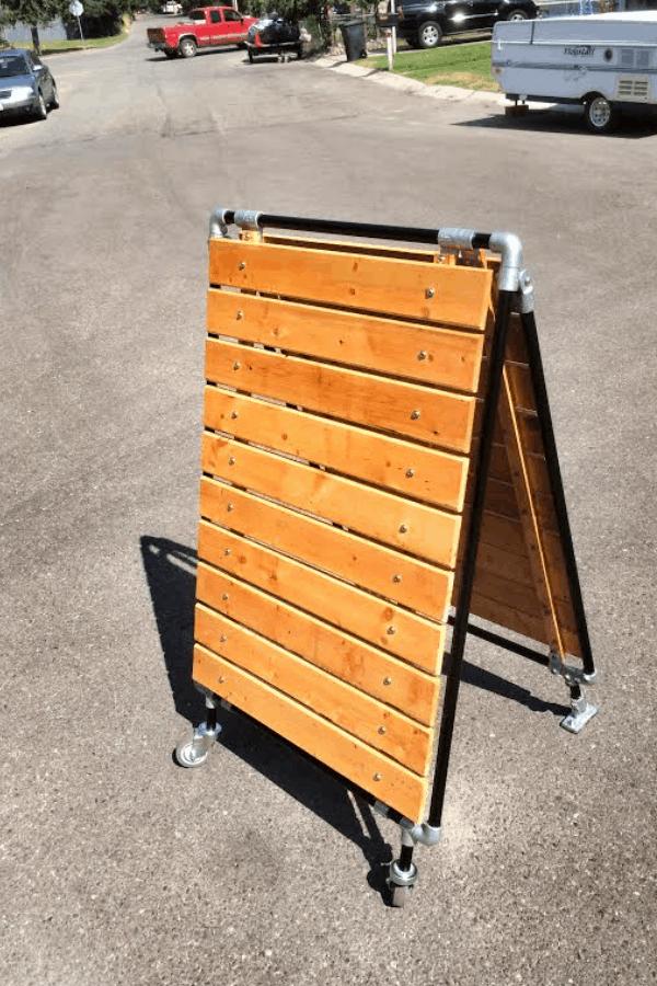 DIY SANDWICH BOARD ON A BUDGET