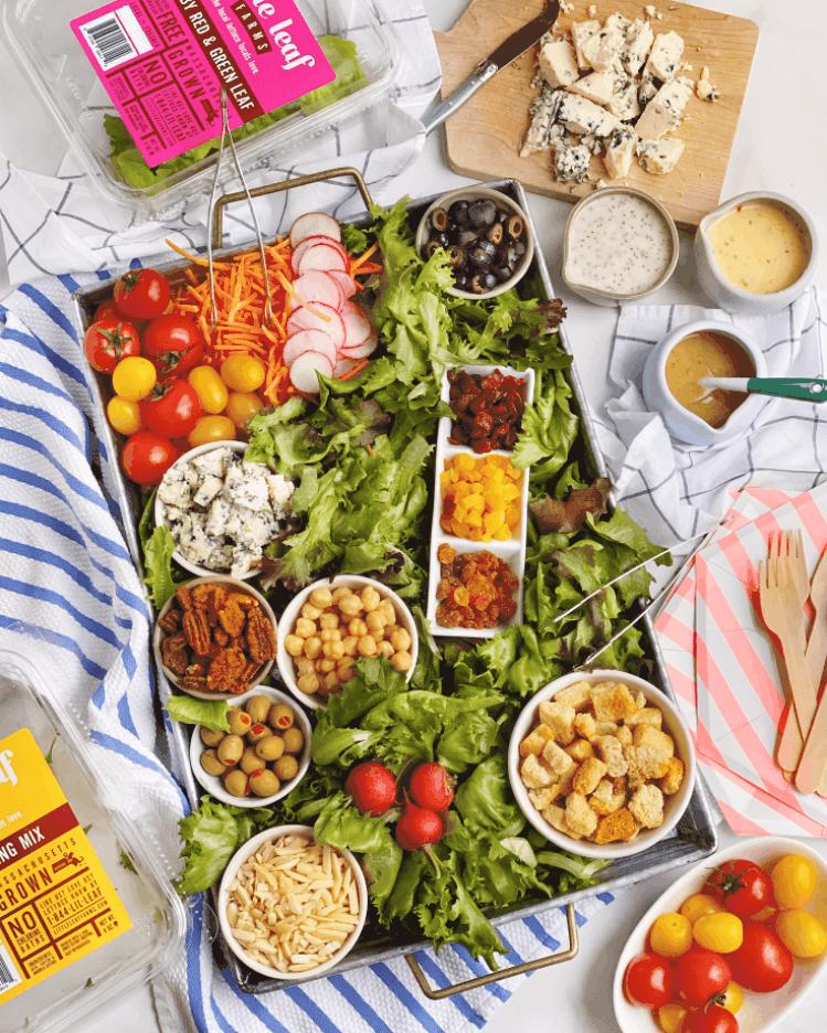 DIY Salad Bar Grazing Board