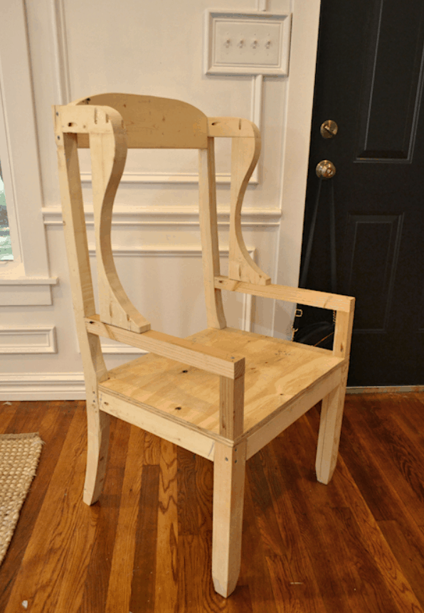 DIY Wingback Dining Chair – How To Build The Chair Frame