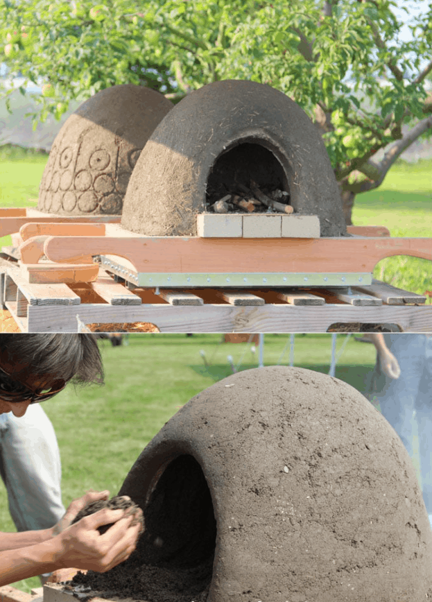 DIY Wood-Fired Outdoor Earth Pizza Oven