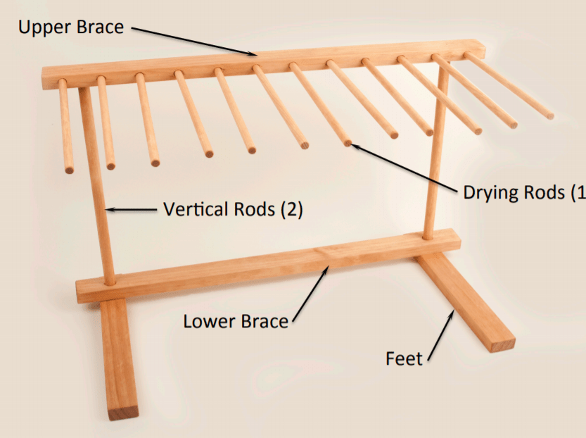 Do It Yourself Pasta Drying Rack Metric Dimensions