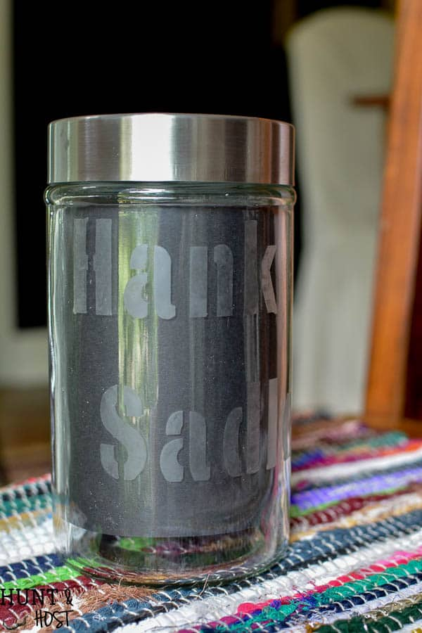 Dollar Store Glass Etching Container