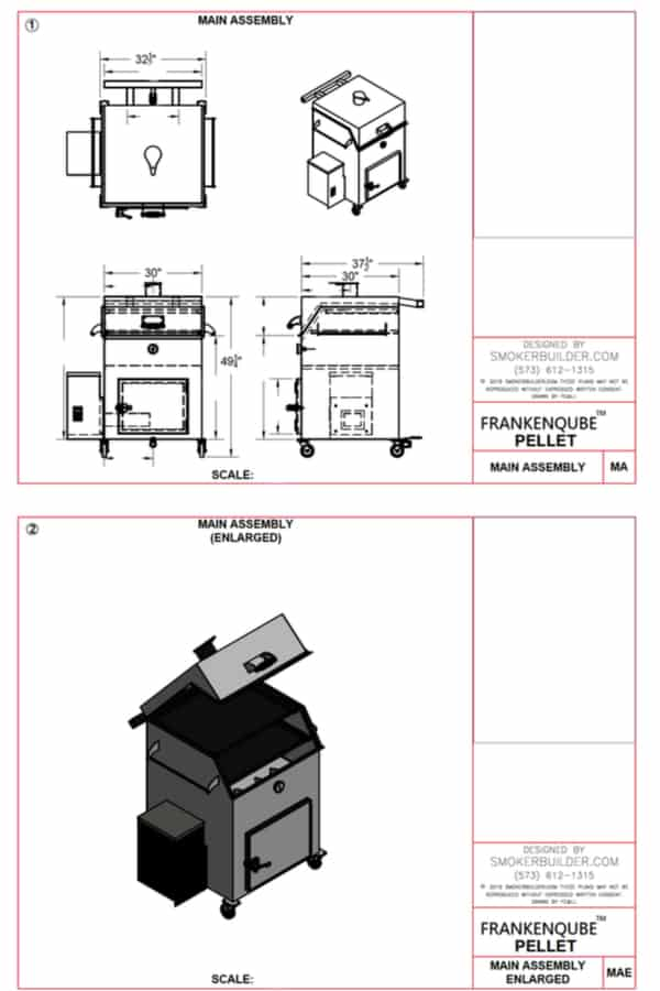 FrankenQube Pellet Version Smoker Plans