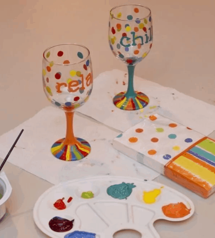 Hand Painted Wine Glasses How to Make Your Own