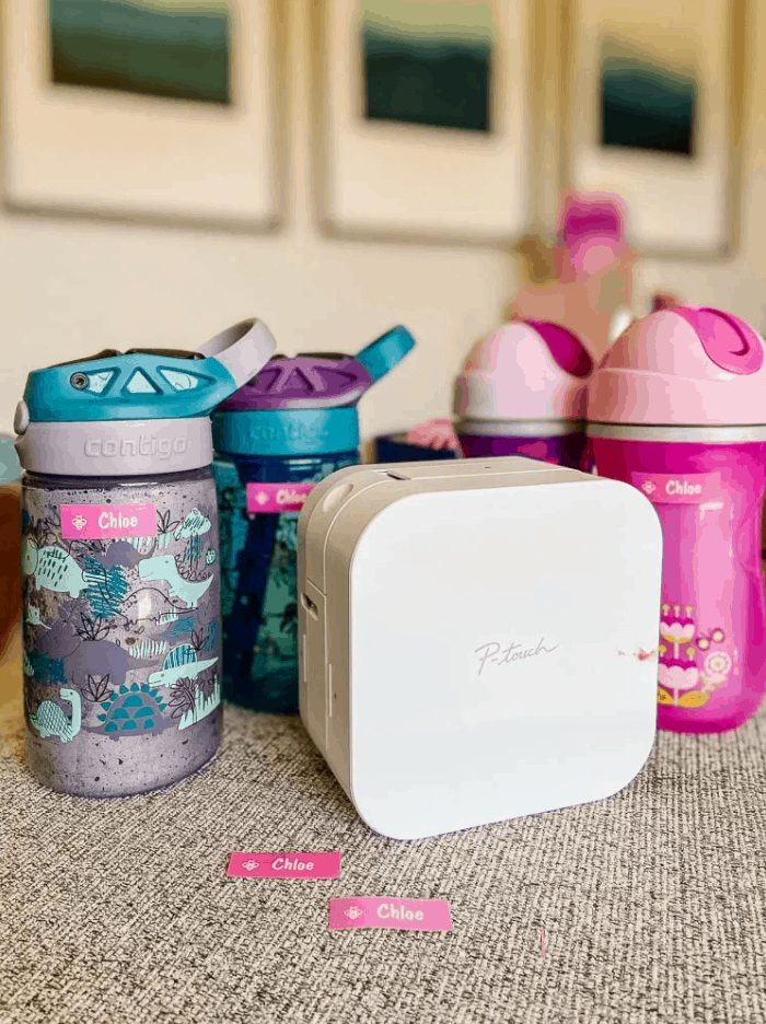 How To Make Water Bottle Labels With A Brother P-Touch Cube Label Maker