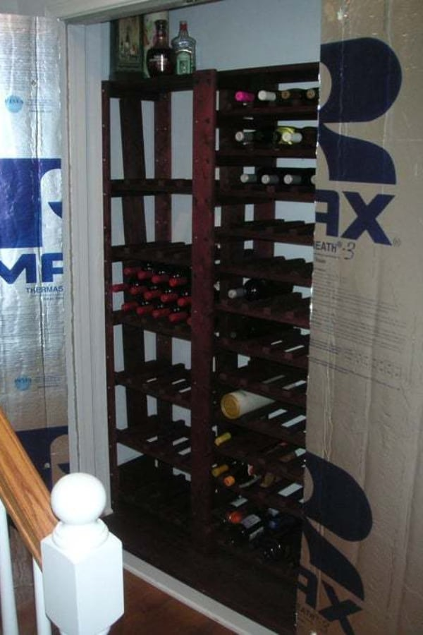How to Convert a Closet into a Mini Wine Cellar