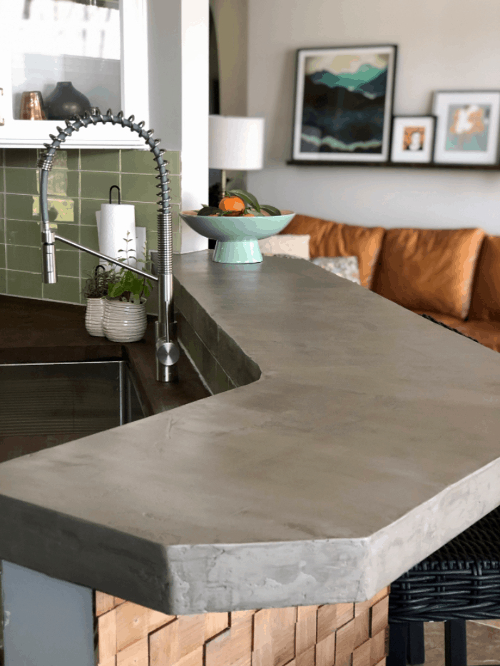 How to DIY a Concrete Bar Top in a Weekend