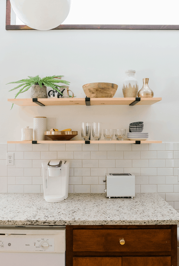 How to Install and Style Open Kitchen Shelves