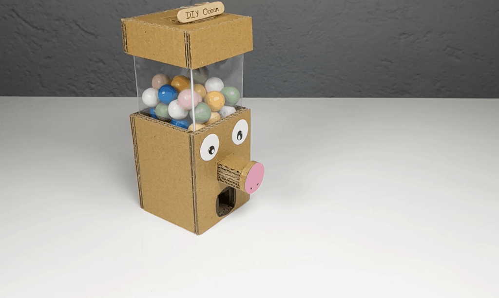 How to Make Gumball Candy Dispenser Machine From Cardboard DIY at Home
