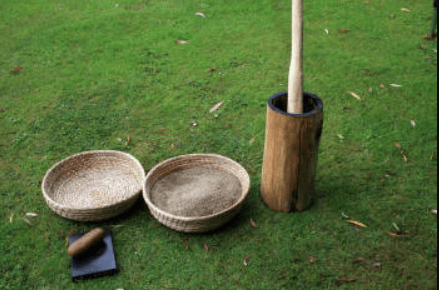 Making a Large mortar and pestle