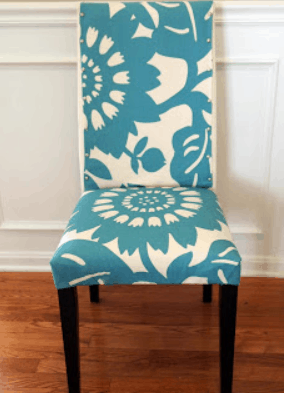 My Morning Slip Cover Chair Project Using Remnant Fabric