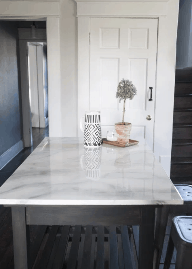 Painted Faux Marble Countertop