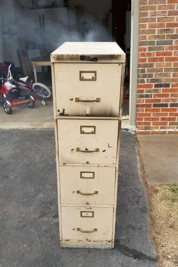 Pellet Smoker in File Cabinet