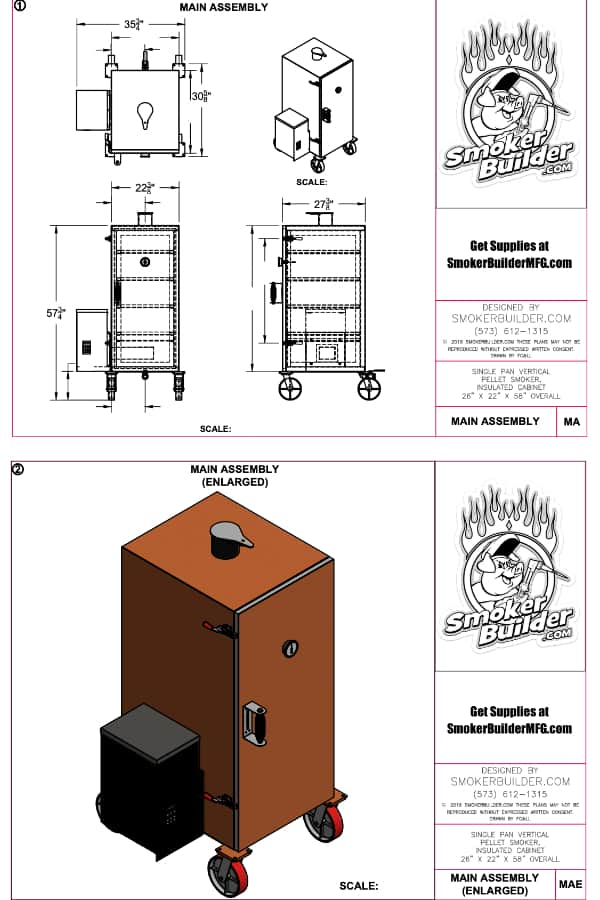 Single Vertical Pellet Smoker Plans