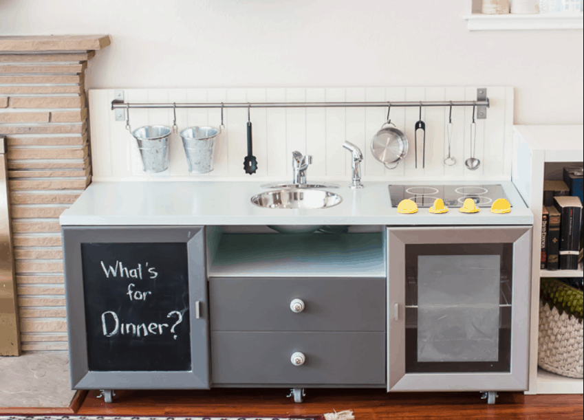The Secrets of How We Built Our DIY Play Kitchen for Under $90