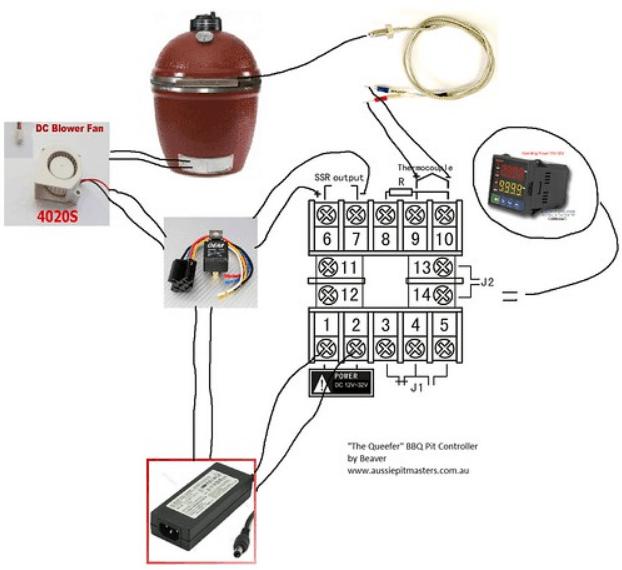 $50 DIY BBQ Charcoal PID Temperature Controller