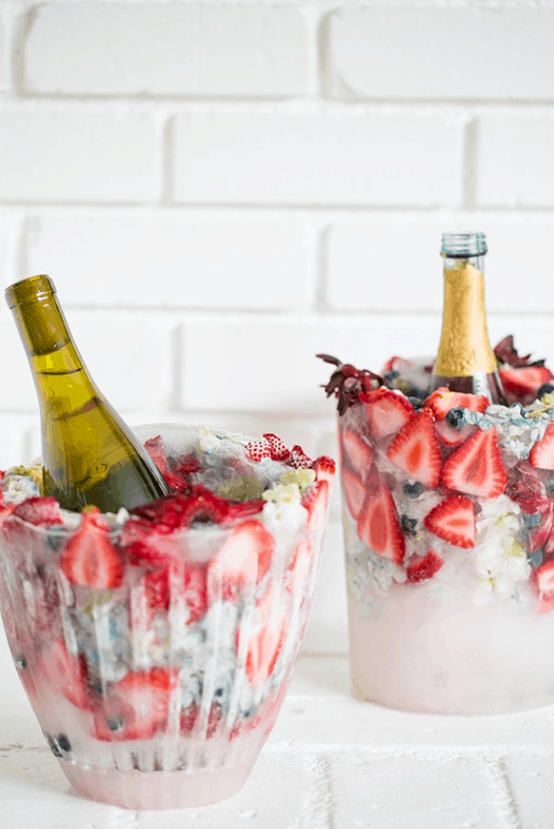 Charming DIY Wine Chiller Bucket with Flowers